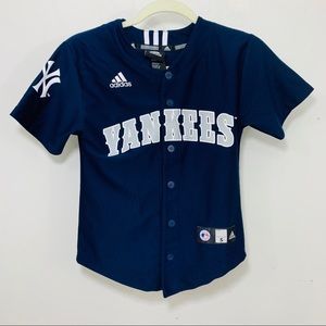 Adidas New York yankees youth jersey blue small 8